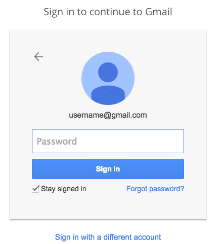 Gmail.com sign in - Enter your password